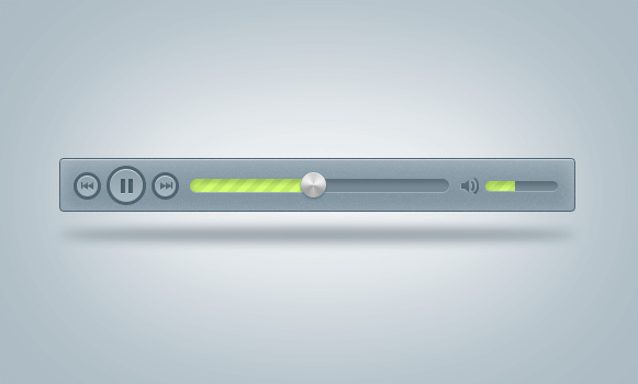 Blue Mp3 Player(PSD)