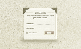 Classic Login Page (PSD)