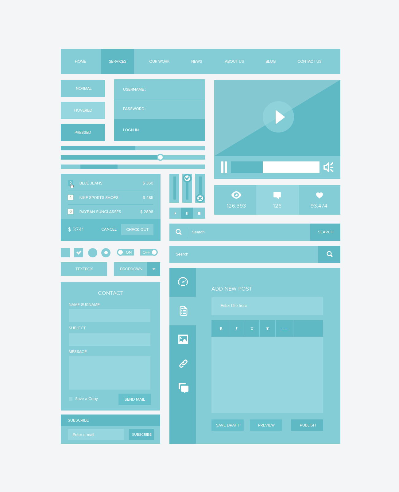 Responsive Ui Kit(PSD) | Free PSDs & Sketch App Resources for ...