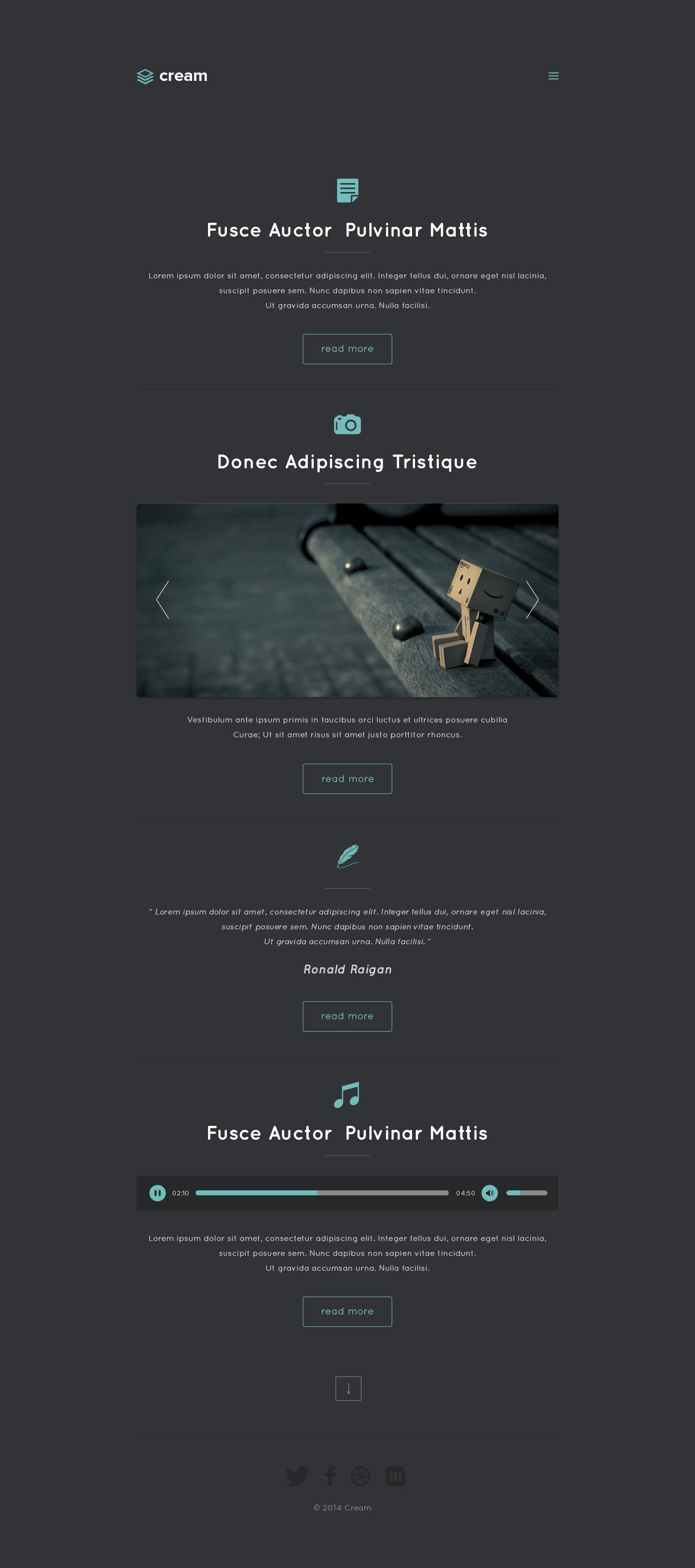 Cream Theme Personal Web Template(PSD) | Free PSDs & Sketch App ...