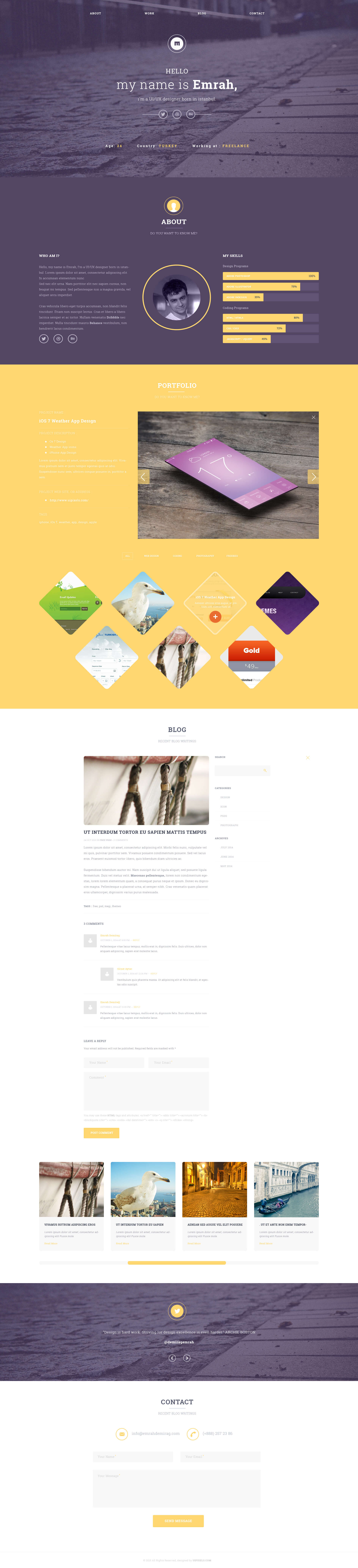 UIPIXELS Portfolio Template(PSD)