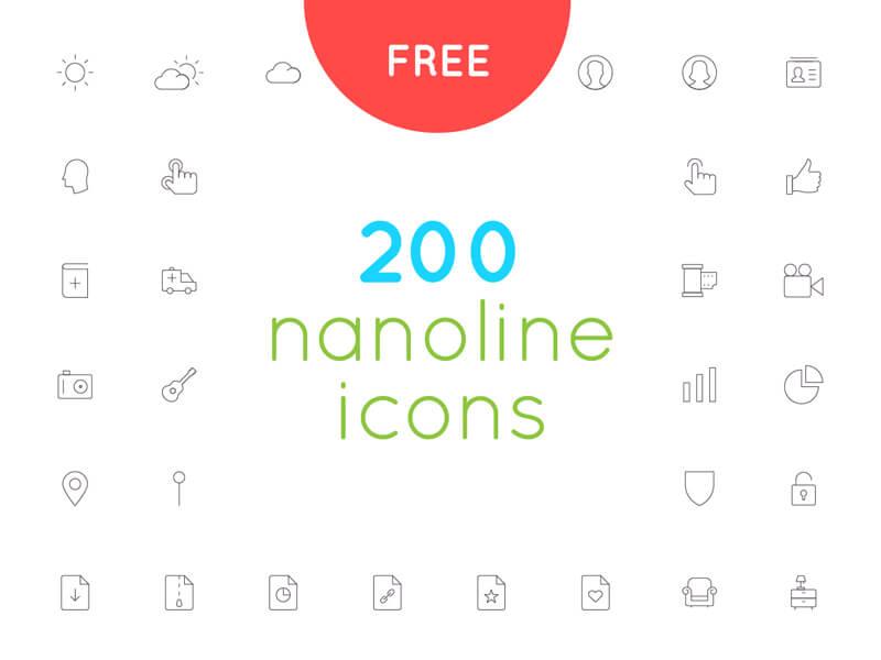 200+ Free icon Set