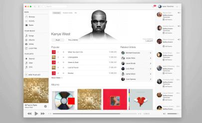 Spotify-and-Apple-desktop-music-app-design