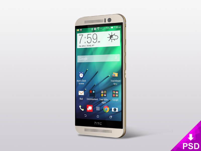 HTC One (M8) Mockup PSD