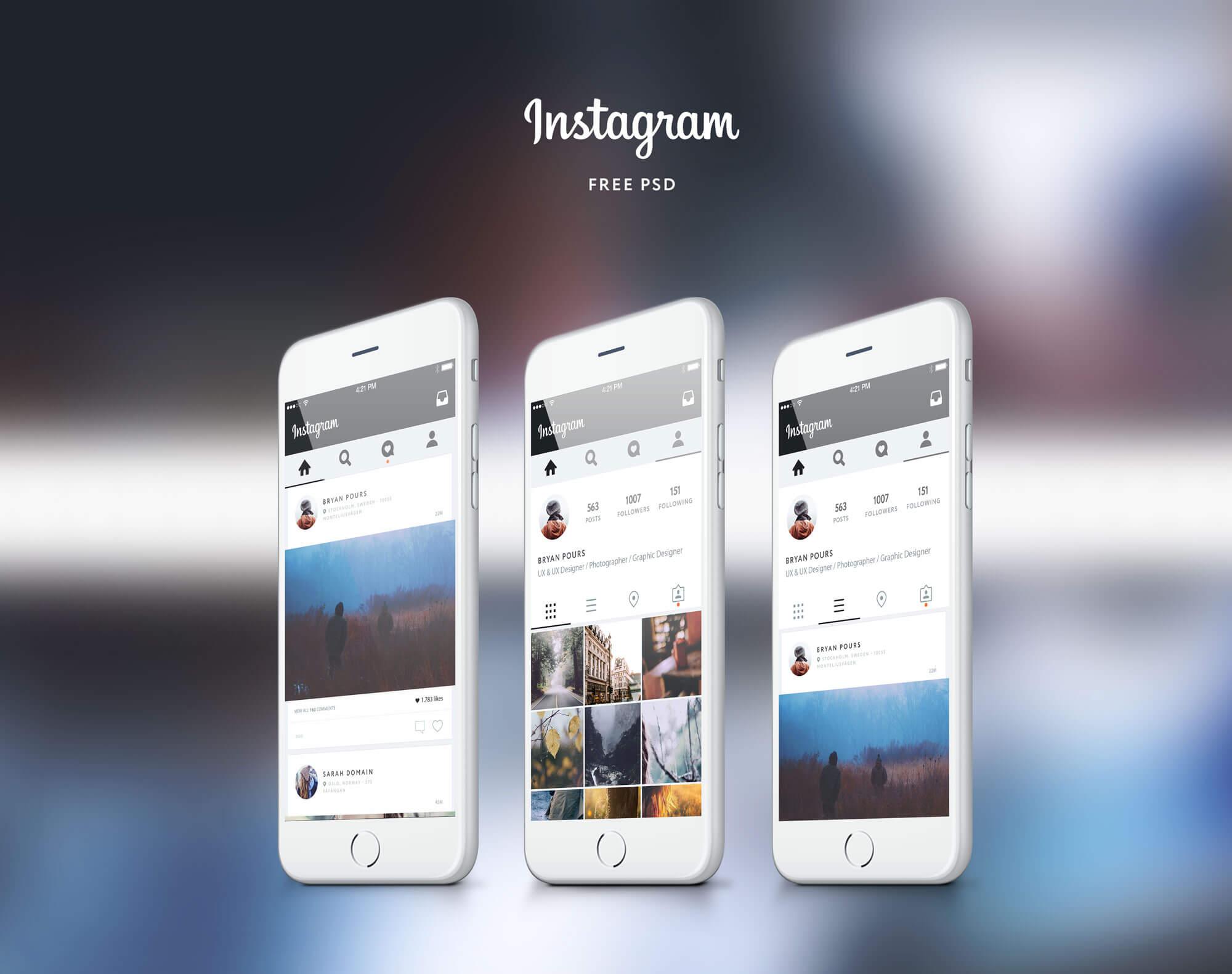 instagram Free Ui Concept