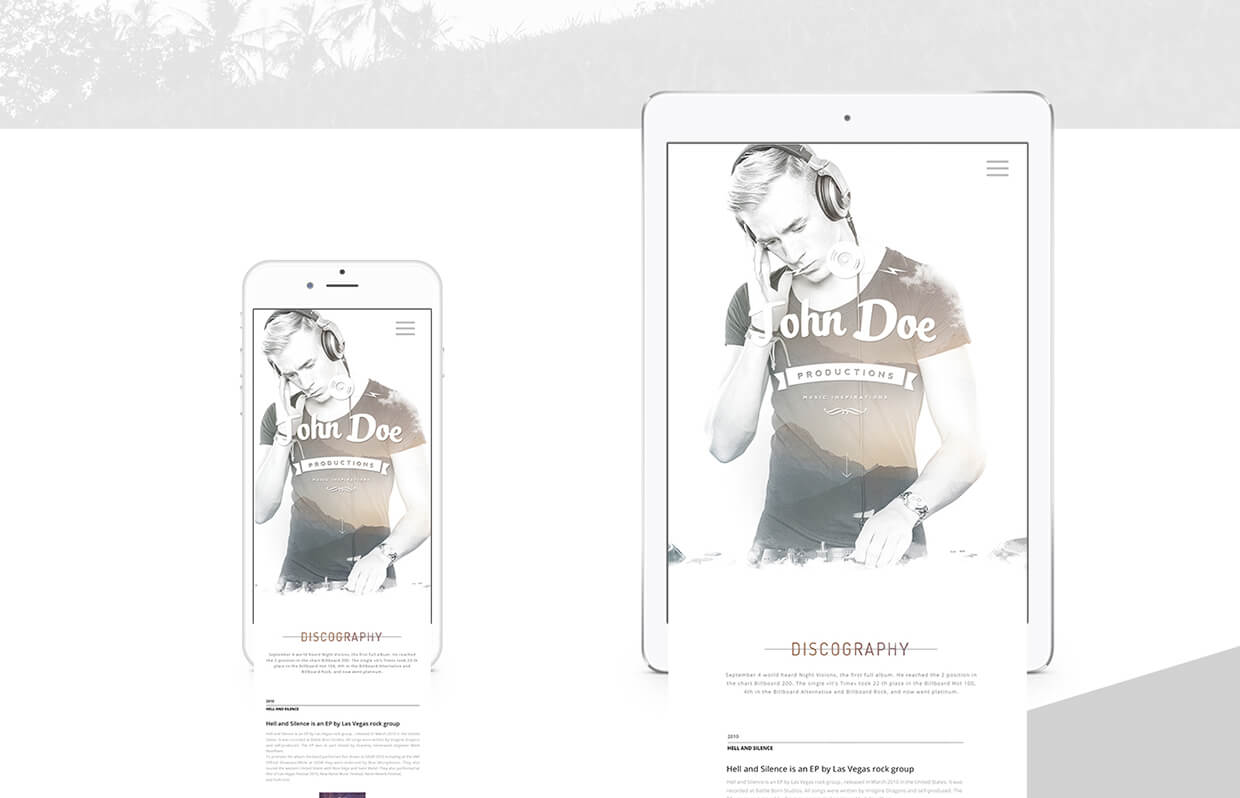 Responsive Template For Musician