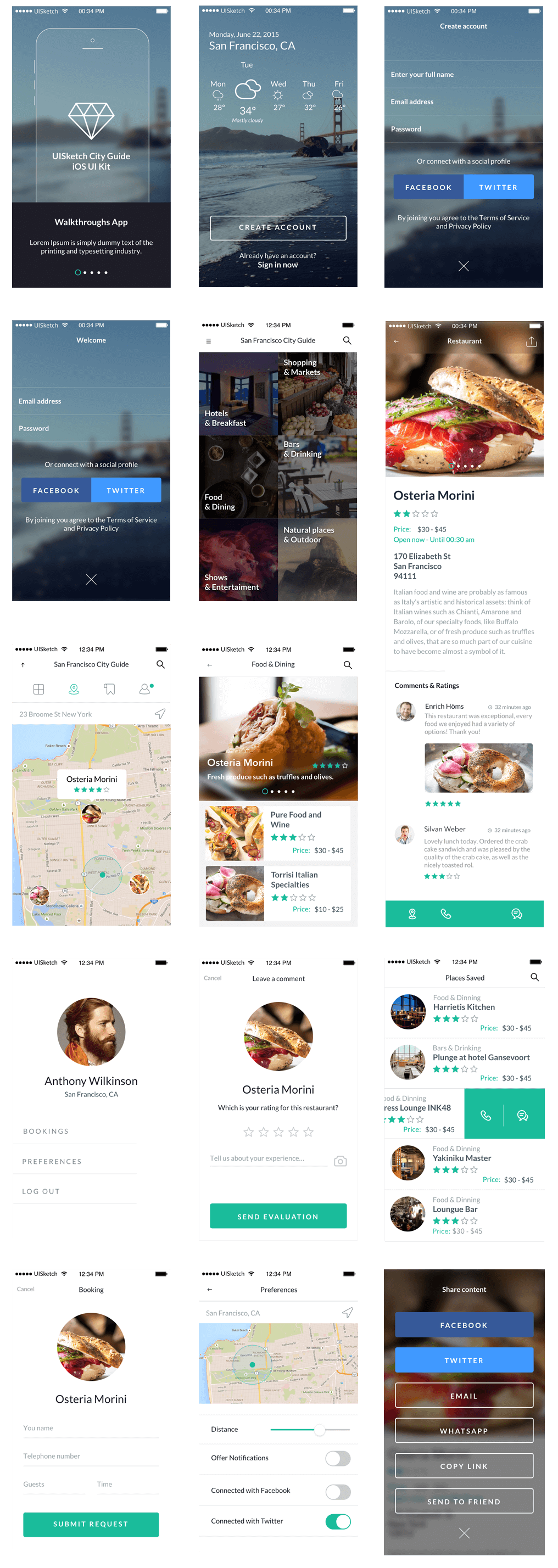 City Guide UI Kit