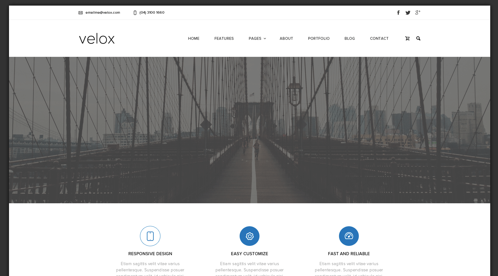 Velox Corporate Template PSD