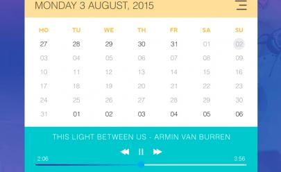 calendar_music_widget_free_psd