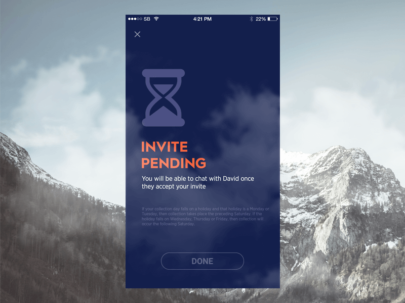 invite Mobile Design & Mockup