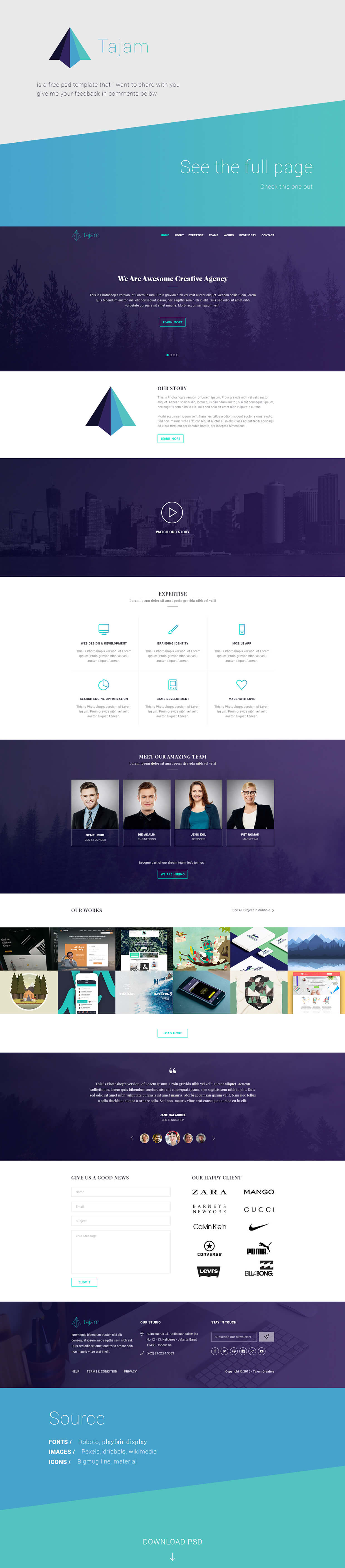 Tajam Agency Template PSD