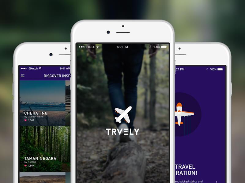 Traveling app .sketch