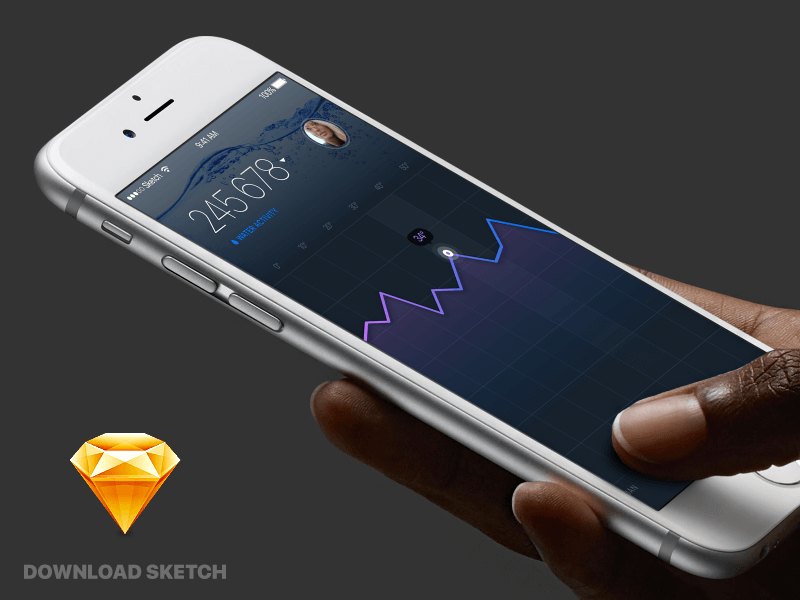 Water app sketch design