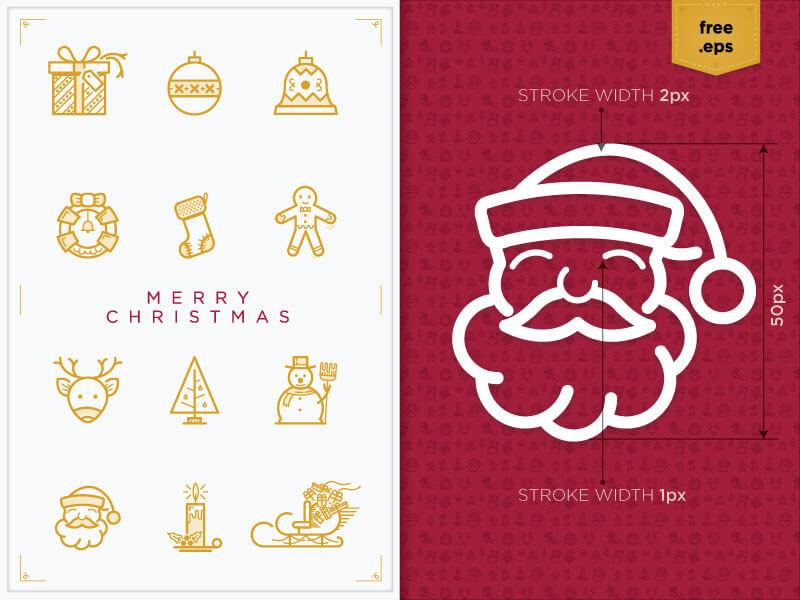 2015 Christmas icons