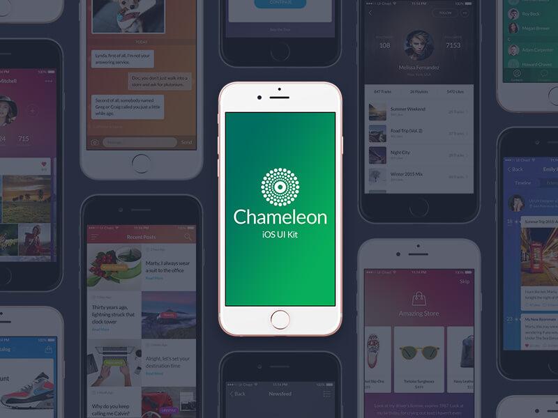 Chameleon UI Kit Free PSD
