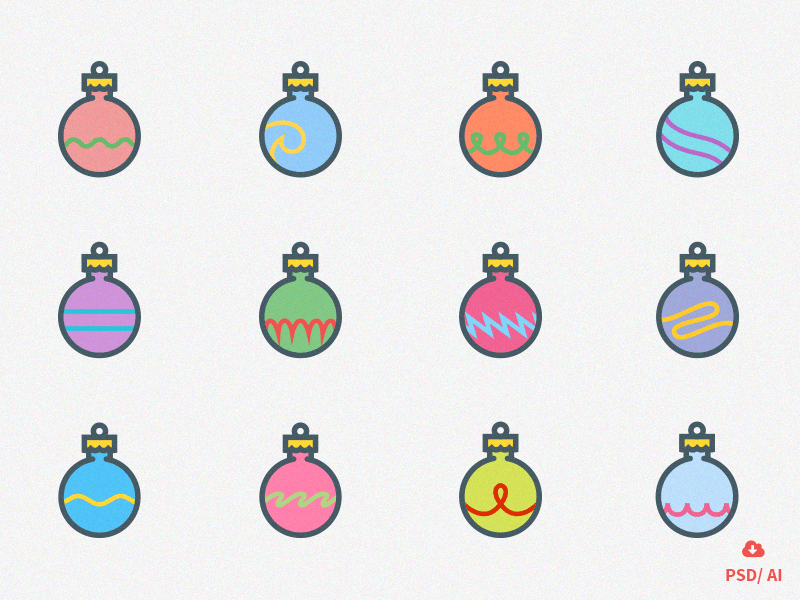 12 Christmas Ornaments
