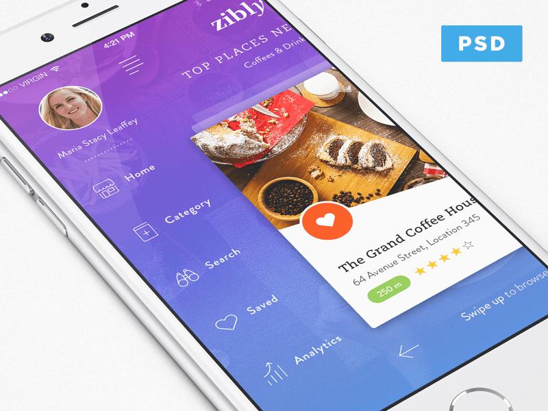 Discovery App PSD