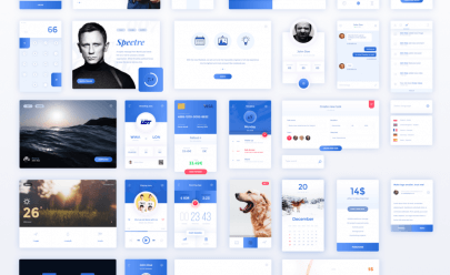 Amazing Blue Ui Kit PSD
