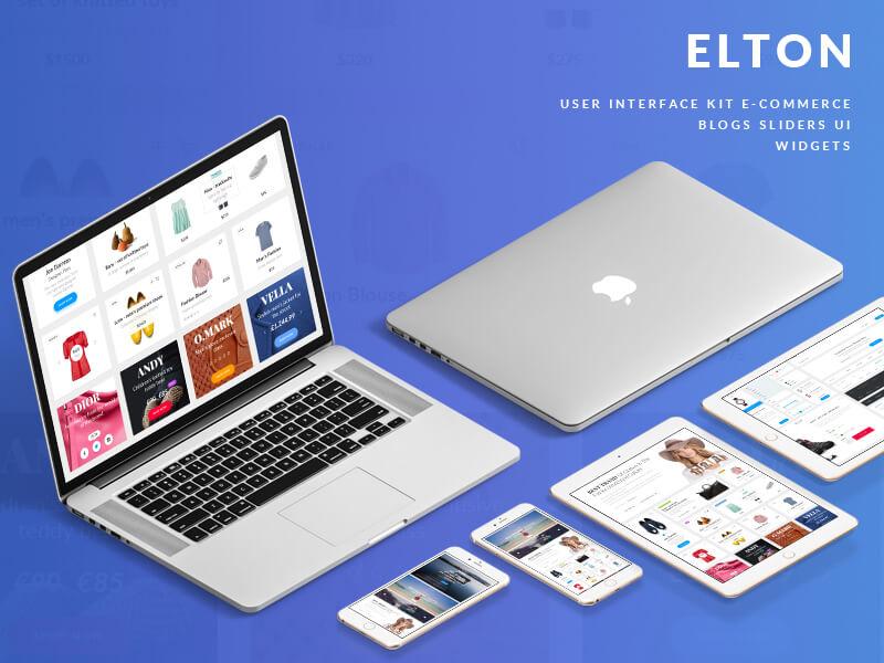 Elton ecommerce UI Kit psd