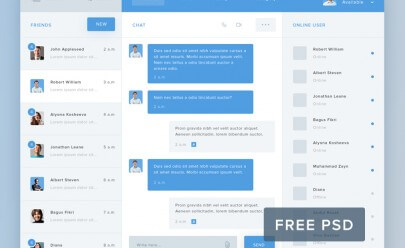 Hi Chat PSD Template