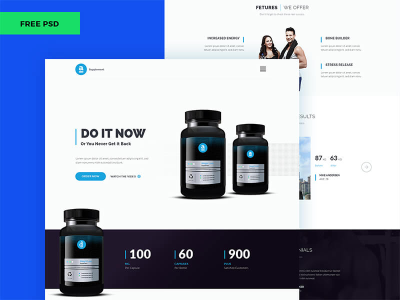 Product Landing Page PSD | Free PSDs & Sketch App Resources for ...