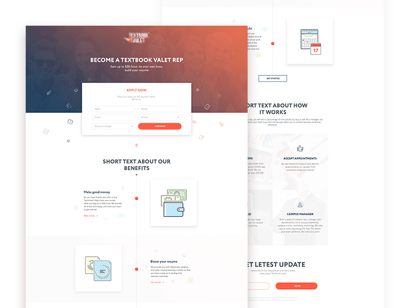 2016 Stylish Landing Page Template