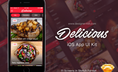 Eat app Template Sketch app