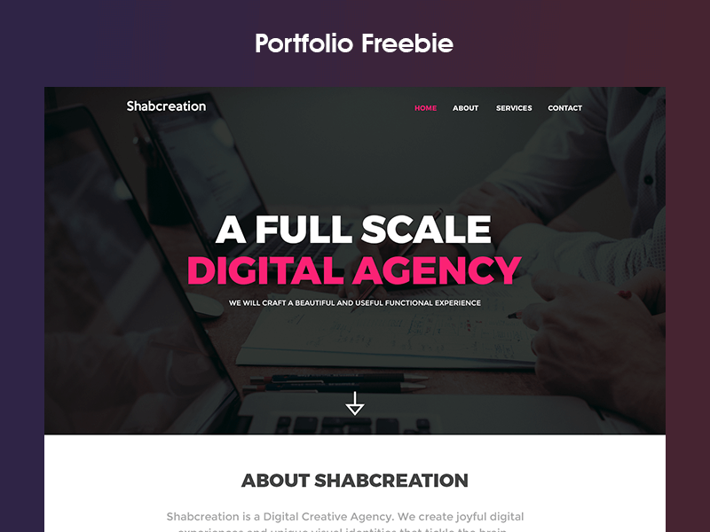 Portfolio Template PSD Free PSDs Sketch App Resources For - Digital portfolio template