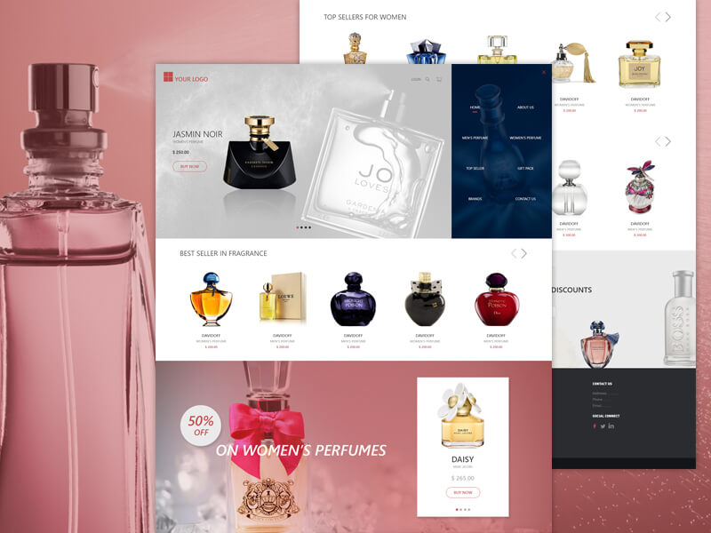 Perfume Store PSD