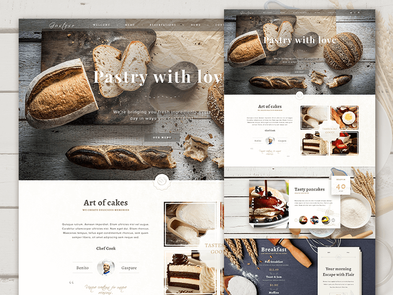 Food Website Landing Page Template PSD