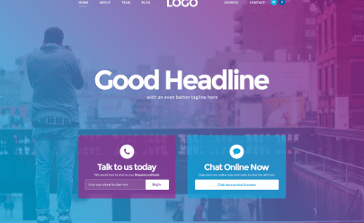 Landing Page PSD