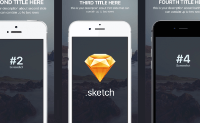Free psd app design free psds sketch app resources for for App store screenshot template