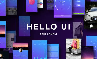 Hello UI Kit Free Sketch app