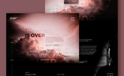 Landing page concept Ui PSD