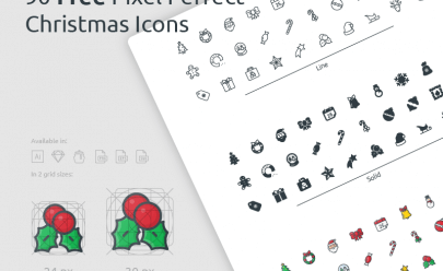 2017 Christmas Icon Set SVG