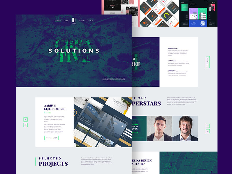 Agency Landing Page Design Free PSD