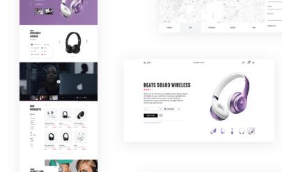 E-commerce UI Kit Free PSD