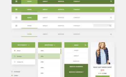 Material UI Kit Free PSD