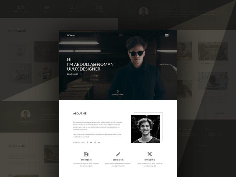 Portfolio Landing Page Free PSD