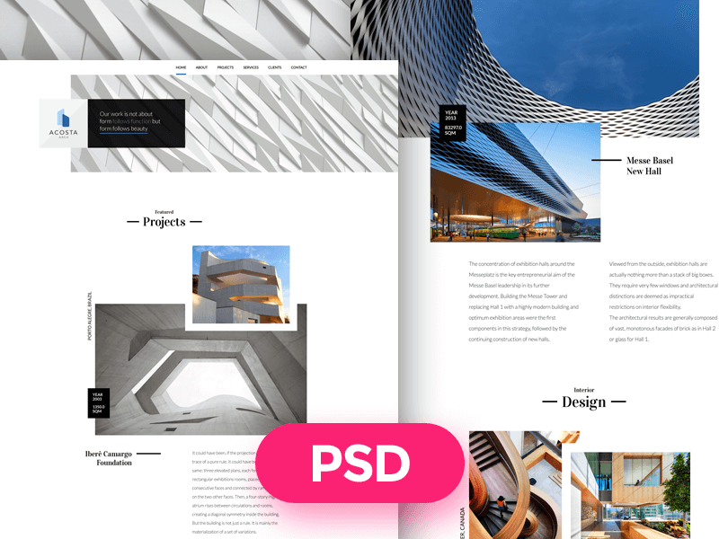 Architecture Template Free PSD