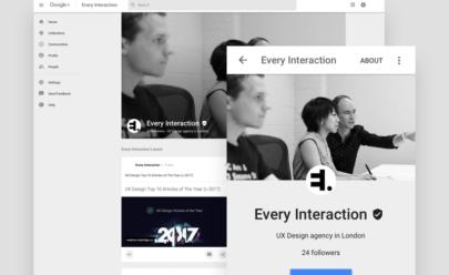 Google Profile GUI Design Sketch/PSD