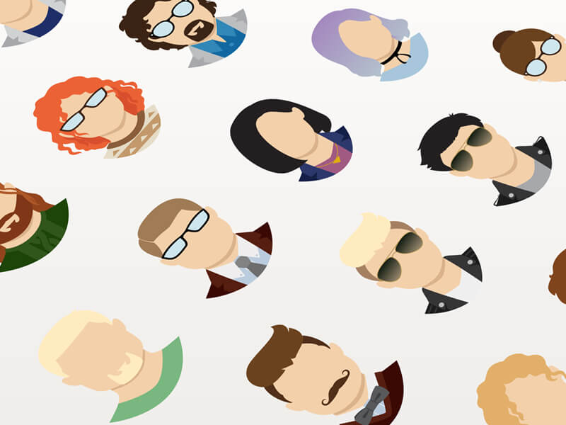 Human Faces icons PSD