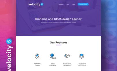 Landing Page Design PSD