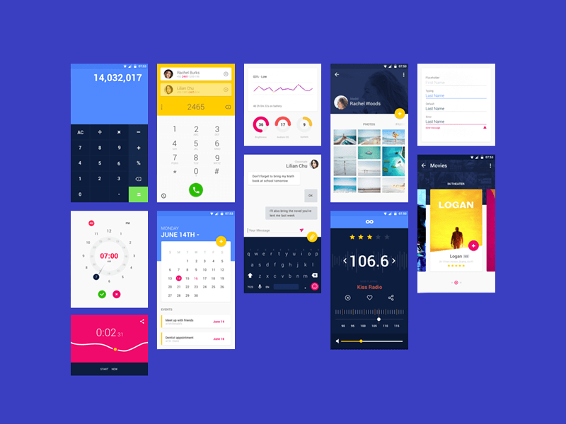 Material Ui Kit Psd Free Psds Sketch App Resources For