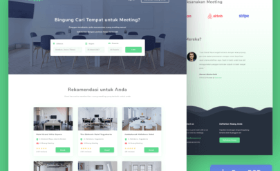 Meeting Room Booking Web Design PSD