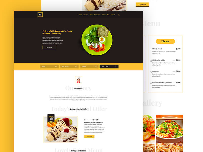 Restaurant Template PSD