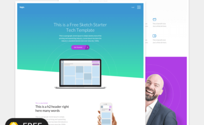 Starter Design Template Sketch app