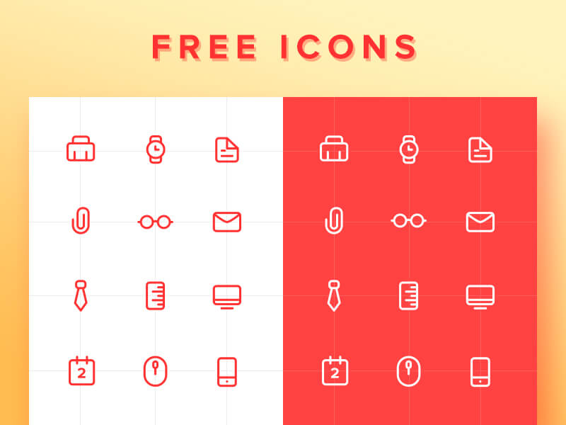 Work icon Set PSD