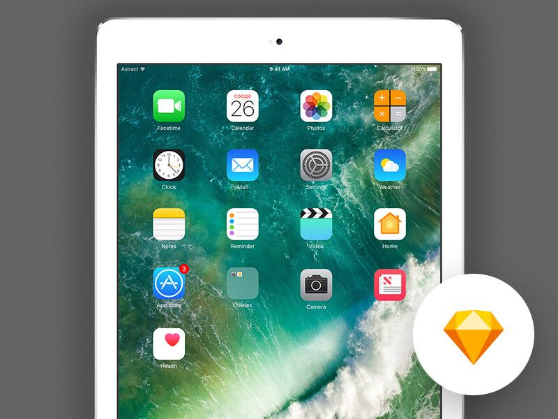 iOS 10 - iPad Pro 9.7 Sketchapp