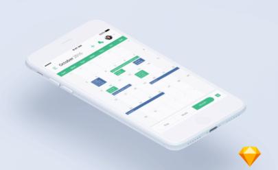 Calendar app Sketchapp